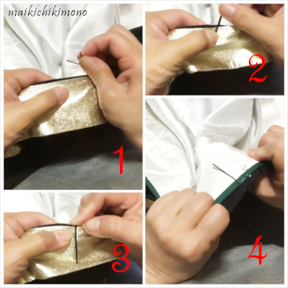 how to attach kasane-eri with hairpins