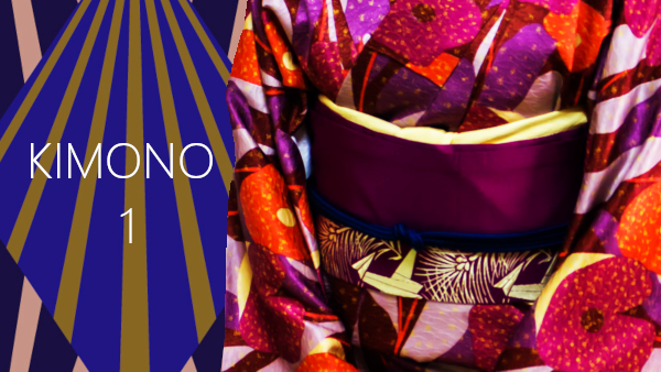 How to put on kimono part1 : from putting on kimono to tying koshihimo