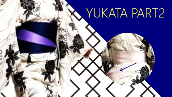 How to put on yukata part 2 :from straighten ohashori to putting on obiita