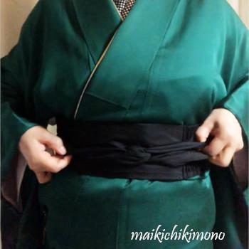 "tie a traditional ""datejime"""