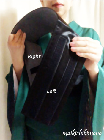 position of the belt.