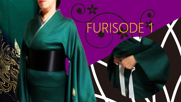 Put on furisode part 1 : from putting on furisode to tying koshihimo