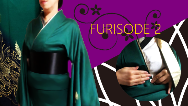 Put on furisode part 2 : from making ohashori to wrapping datejime