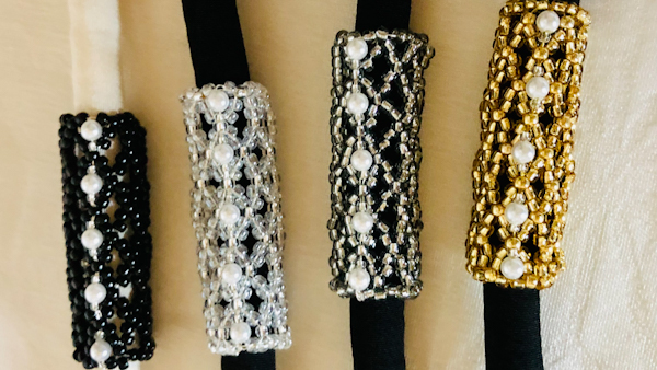 Obidome : neutral color beaded tubes